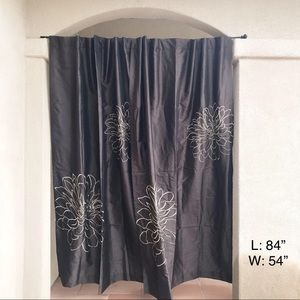 Two Panel Curtain with flower print design